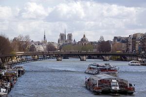 Paris sur seine (Passerelle Leopold-Sedar Senghor)