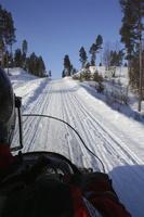 Balade en moto neige