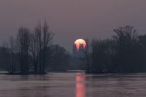 Coucher de soleil sur la Cathédrale D'Orléans